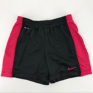 Nike Black and Pink Dri-Fit Running Shorts